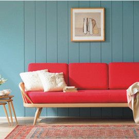 ercol - red sofa