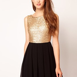 asos - Image 1 of TFNC Babydoll Dress With Sequin Bodice