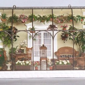 """Wall-Hanging Conservatory - 20"""" wide x 9"""" deep x 15"""" high"""