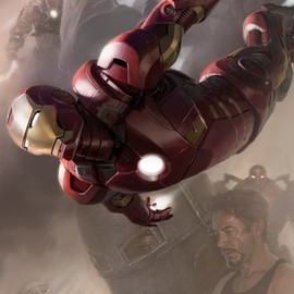 MERVEL - Iron Man SDCC 2011 exclusive concept art poster