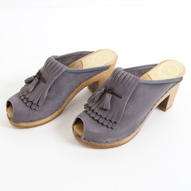 No.6 - Double Kiltie Clog with Tassels