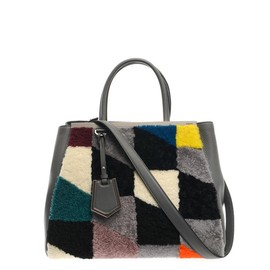FENDI - 2Jours shearling and leather tote