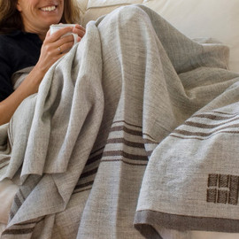 R merino wool throw