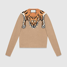 GUCCI - Wool sweater with tiger
