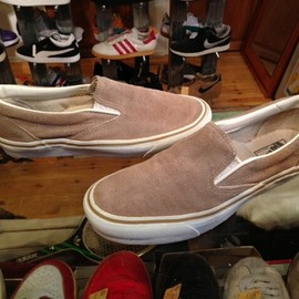 "vans - 「<used>90's vans SLIP-ON beige suede""made in USA"" size:US9(27cm) 13800yen」完売"