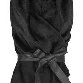 KARL DONOGHUE - Black suede leather gilet