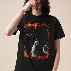 Schott, Stussy - Joey Ramone Tee - Black/Red