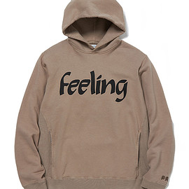 "nonnative - DWELLER HOODY COTTON SWEAT OVERDYED ""Feeling"""