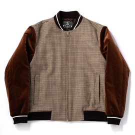 bal - VELVET AND TWEED  BOMBER JACKET