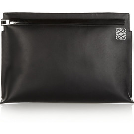 LOEWE - Large leather clutch