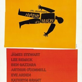 Saul Bass - Anatomy of a Murder Poster