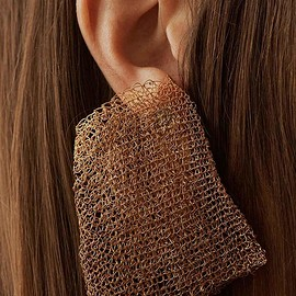 Completedworks - The FBI's Filing System - Gold Plated Earrings