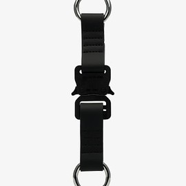1017 ALYX 9SM - Black Buckle Rubber Keyring - Black