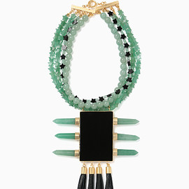 mame - Natural Stone Decorative Necklace - mint green