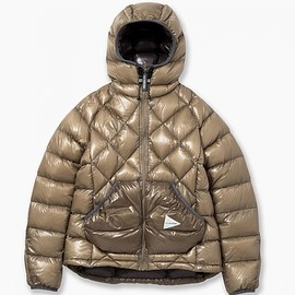 and wander - diamond stitch down jacket
