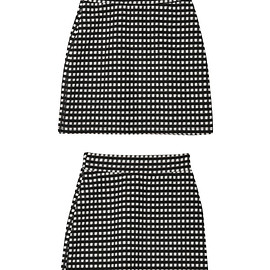 stylenanda - Modern Checkered Mini Skirt|stylenanda