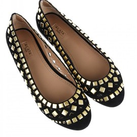 AZZEDINE ALAIA - Suede upper with square studs and cut-out inserts