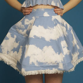 vivetta - Clouds Umbrella skirt