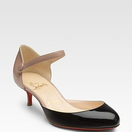 Christian Louboutin - Loubis Babe Patent Leather Pumps
