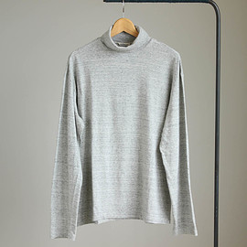AURALEE - SEAMLESS TURTLE NECK L/S TEE #top gray