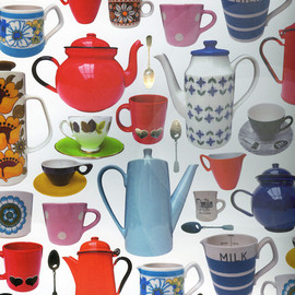 oliver bonas - tea cup wrapping paper