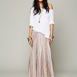 Free People - Bubble Gum Stripe Maxi