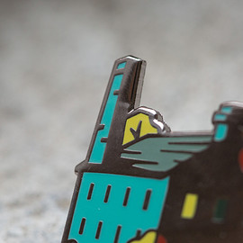 northern craft - abandoned factory enamel pin
