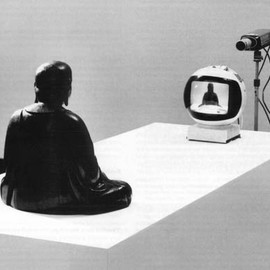 Nam June Paik - TV Buddha.  Video and sculpture installation.  1982.