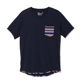 White Mountaineering - WAVE BORDER HEM PIPING POCKET T-SHIRT