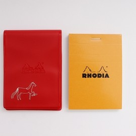 PASS THE BATON - RHODIA No.11 IN COLOR RD/Horse