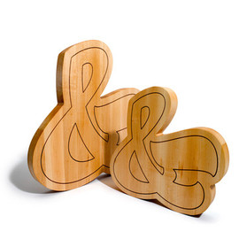 House Industries - Ampersand Cutting Board Small &&&