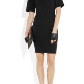 KARL - Interlock collared stretch-jersey dress