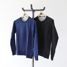 FLISTFIA - Crew Neck Indigo Sweat