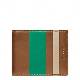 COACH - bleecker legacy debossed painted stripe slim billfold