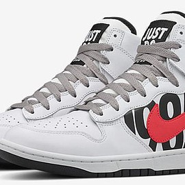 UNDEFEATED, NIKE - Dunk Lux High - White/Black/Infrared