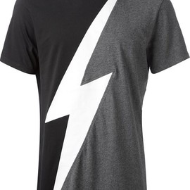 Neil Barrett - lightening print t-shirt