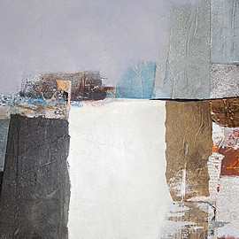 Virginia Cole - Remixed Formations, mixed water medium on panel