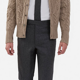 BLACK FLEECE BY Brooks Brothers - engineered cable cardigan