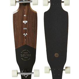 GLOBE - GLOBE THE CUTLER LONGBOARD SKATEBOARD - WALNUT