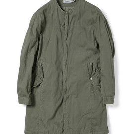 nonnative - TROOPER COAT - COTTON PIQUE OVERDYED