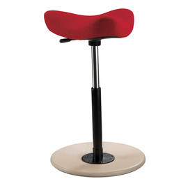 Varier - Move Standard Natural Lacquered Ash Base / Step Fabric Red