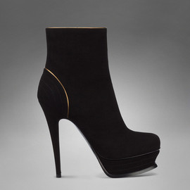 Yves Saint Laurent - TRIBUTE HIGH-HEEL BOOTIE IN BLACK SUEDE