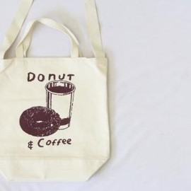 TACOMA FUJI RECORDS - TACOMA FUJI RECORDS/DONUT & COFFEE TOTE BAG