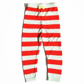franky grow - franky grow フランキーグロウ BORDER LEGGINGS MINT×RED S/M/L