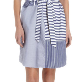 Band of Outsiders - Patchwork Short Sleeve Shirt Dress