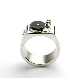 Darkcloud Silver - Turntable Ring