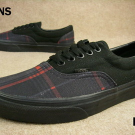 VANS - VANS Era (Scout Plaid) Black/Red
