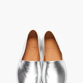 Maison Martin Margiela - MAISON MARTIN MARGIELA Silver Laminated Leather Loafers