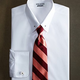 Brooks Brothers - The Great Gatsby Collection Slim Fit Point Collar French Cuff Broadcloth Solid Dress Shirt