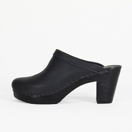 No.6 - Old School Clog on Black High Heel
